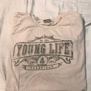 Other - Cream Young Life Oakbridge shirt